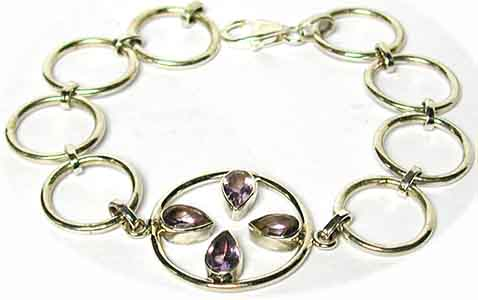 Armband  Sterling-Silber/Amethyst